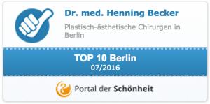 Top 10 Auszeichnungen von Dr. H. Becker